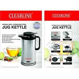 Clearline Double Wall Stainless Steel Jug Kettle
