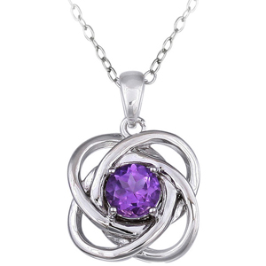 FacetzInspire Lab Amethyst 92.5 Sterling Silver Pendant