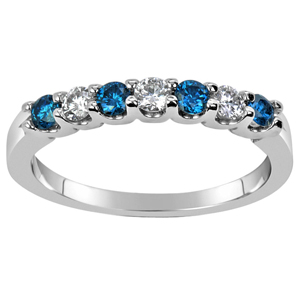 FacetzInspire Real Diamond Lab Blue Topaz 92.5 Sterling Silver Ring