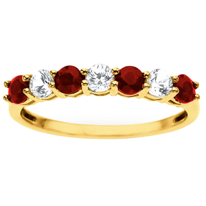 FacetzInspire Real Diamond Lab Ruby 92.5 Sterling Silver Ring