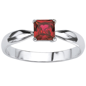 FacetzInspire Lab Ruby 92.5 Sterling Silver Ring