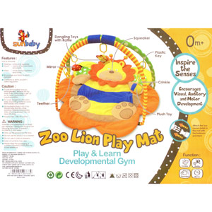 Gyms & Playmats-Sunbaby Zoo Lion Playmat