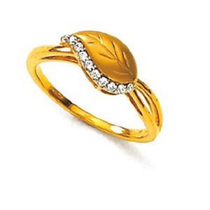 Kiara Sterling Silver Fantacy Nine Stone Leaf Shape Ring KIR0013