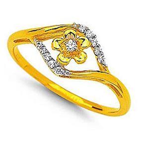 Kiara Sterling Silver Royal Look Flower Shape Ring KIR0022