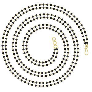 Mangalsutras-Avsar 18k Gold 16 Inch Dblmgl Chain