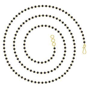 Mangalsutras-Avsar 18k Gold 16 Inch Mangal Chain