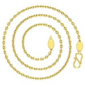 Gold Chains-Avsar 18k Gold 18 Inch Cable Chain