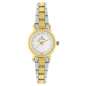 Titan White Dial Stainless Steel Strap Strap Women's Watch 917BM01