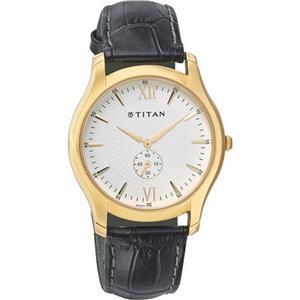 Titan Classique Analog White Dial Men's Watch - 1616YL01