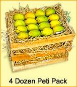 Mangoes-Mango Peti 200 grams each - 4 Dozen