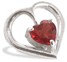 Heart Collection-Garnet Pendant
