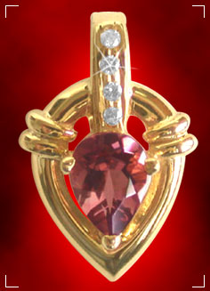 Precious Stone Pendant-Turmaline Drop