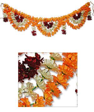 Torans & Wall Hangings-Flora - Door Hanging