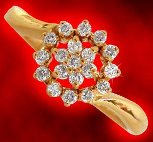 Diamond-Flower Ring