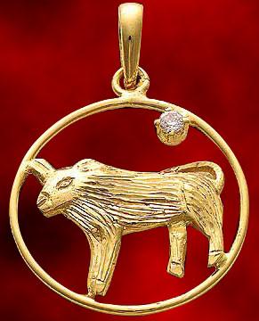 Taurus Gold Pendant