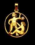 Gemini Gold Pendant