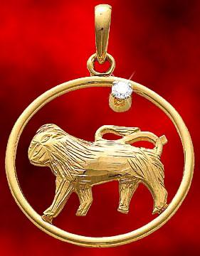 Leo Gold Pendant