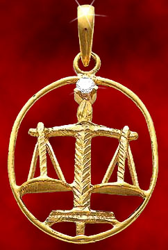 Libra Gold Pendant