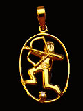 Zodiac Pendants-Saggitarius Gold Pendant
