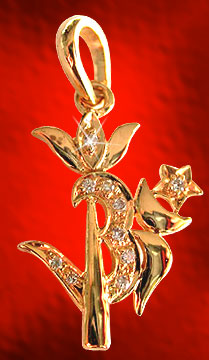 Diamond Pendants-Om-Trishul Pendant