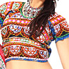 Toran Style Red & Blue Chaniya Choli