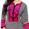 Black and Pink Embroidered Kurti