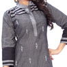 Handloom Cotton Black Kurti