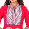 High Neck Hand Embroidered Cotton Kurti