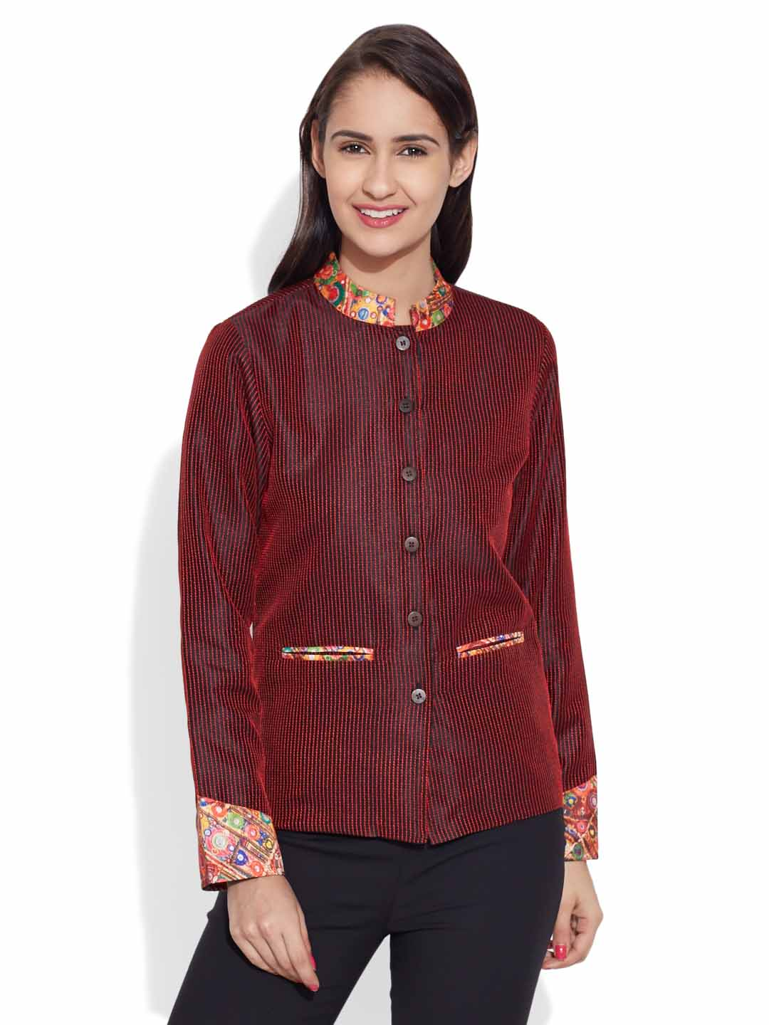 Jackets-Faux Silk Short Jacket