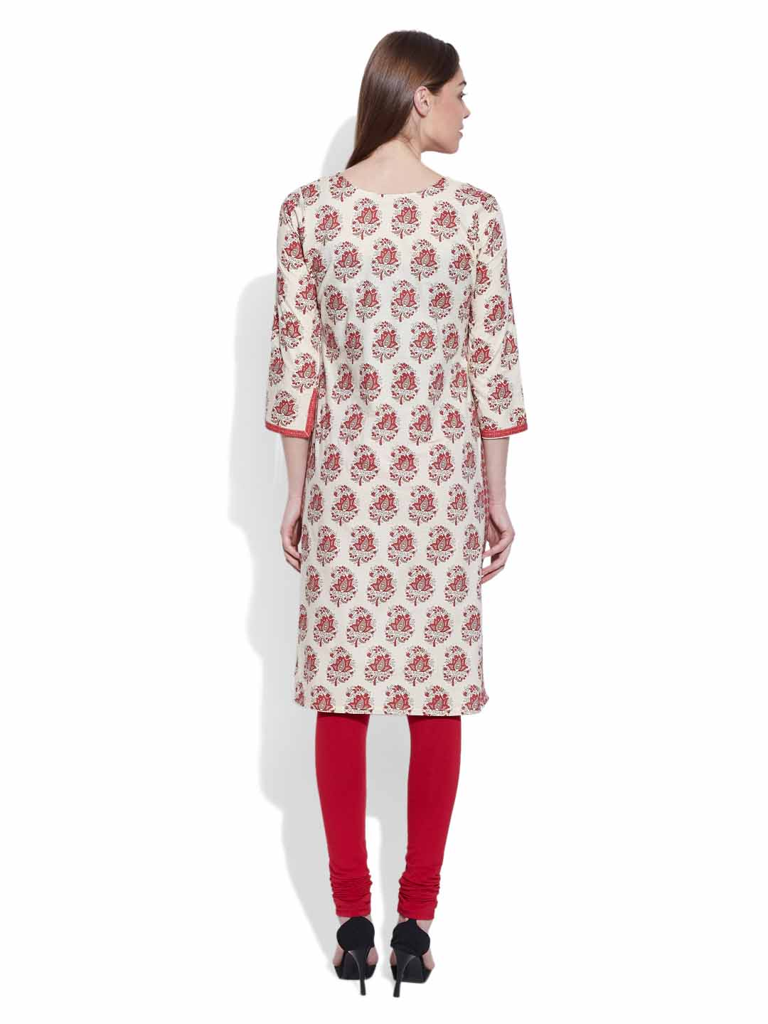 Kurtas-Cotton Printed Long Kurta