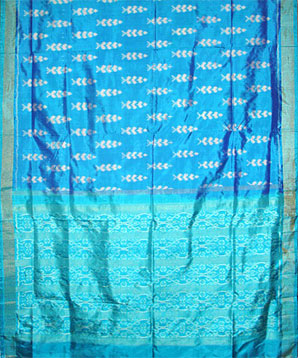 Blue Patola Silk Saree