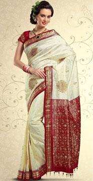 Embroidered Kanchipuram Silk Saree