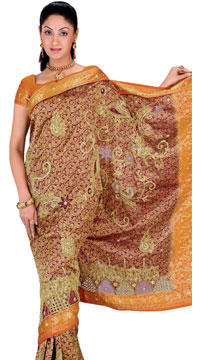 Kanchipuram Brocade Silk Saree