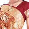Embroidered Brocade Kanchipuram Silk Saree