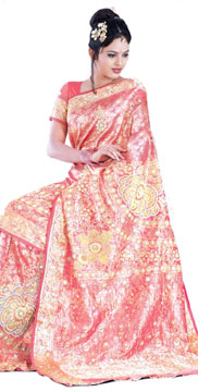 Embroidered Brocade Kanchipuram Silk Saree