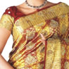 Hand Woven & Hand Embroidered Zari Brocade Kanchipuram Silk Saree