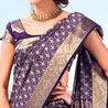 Purple Bon Silk Saree