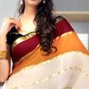 Multicolor Crepe Saree
