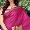 Pink and Soft Peach Patli Silk Printed Saree