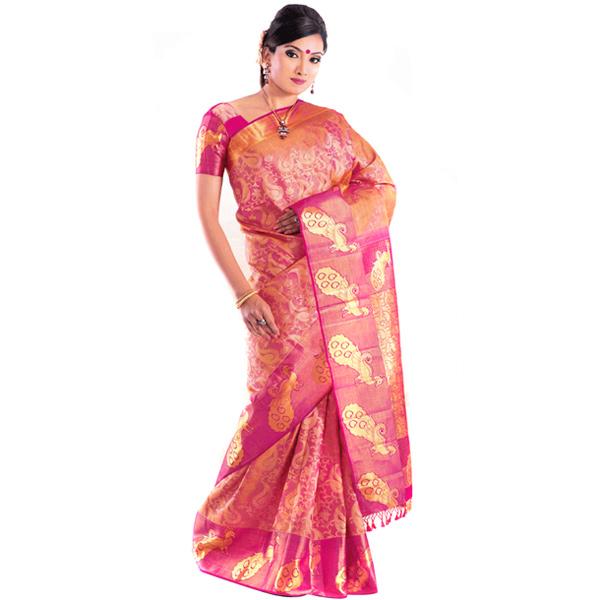 Kanjivaram Patli Style Silk Saree