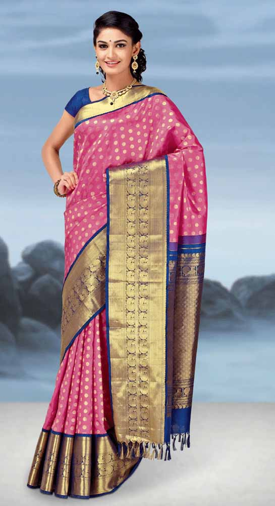Hand Woven Pure kanchipuram Silk Saree