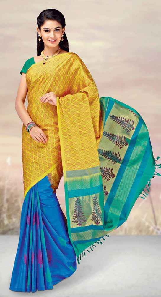 Hand Woven Pure kanchipuram Silk Saree