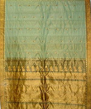 Olive Green Tissue Saree