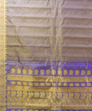 Light Brown Tissue Saree