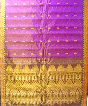 Purple Tissue Saree