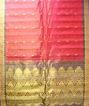 Pink Tissue Saree