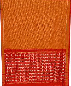 Patola Silk Saree in Orchre and Mahogany