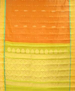 Light Rust Color Pure Silk Saree