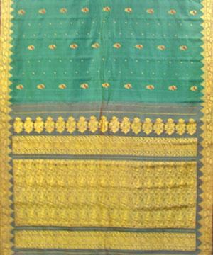Dark Shabari Color Pure Silk Saree