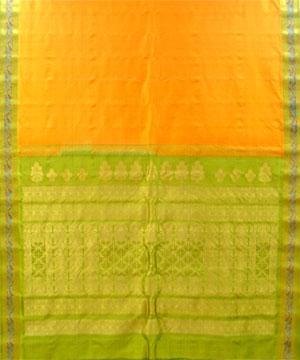 Orange Color Pure Silk Saree